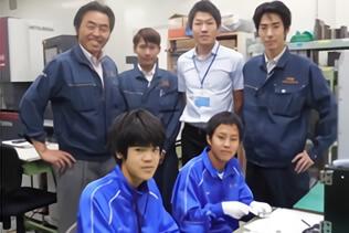 貝塚の地元中学校の職業体験学習に協力