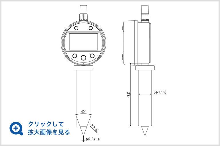 穴径測定器の図面