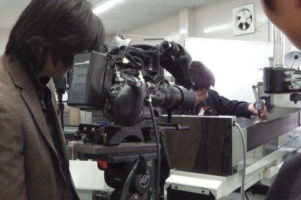 株式会社ミツトヨ  販売促進部 広告宣伝の方が、撮影に来社されました。