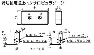 軸用形状のヘクサロビュラゲージの製作事例