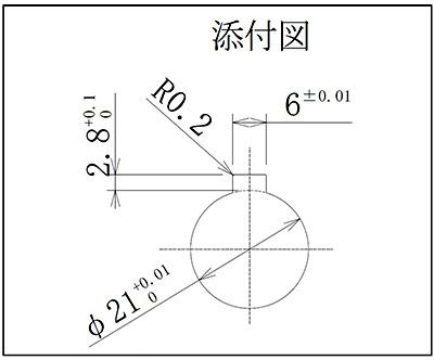 キー溝検査ゲージの添付図